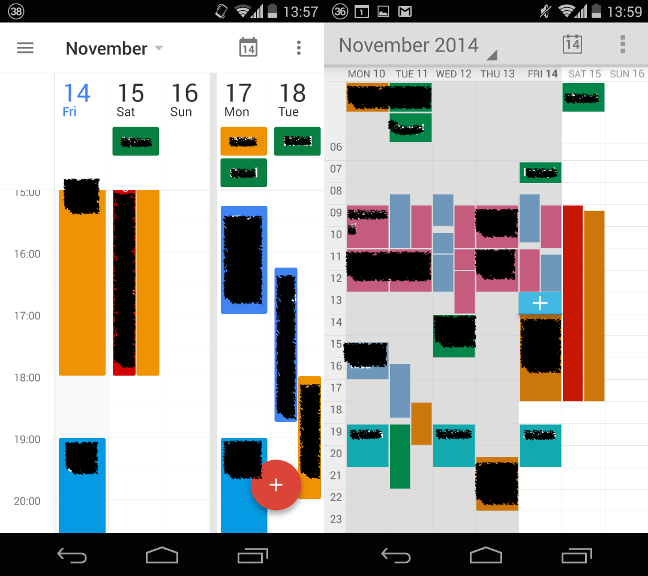 android calendar events disappear